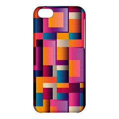 Abstract Background Geometry Blocks Apple Iphone 5c Hardshell Case