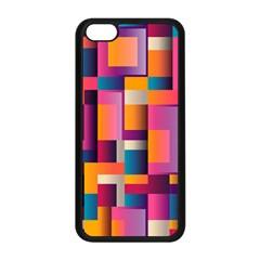 Abstract Background Geometry Blocks Apple iPhone 5C Seamless Case (Black)