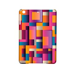 Abstract Background Geometry Blocks iPad Mini 2 Hardshell Cases