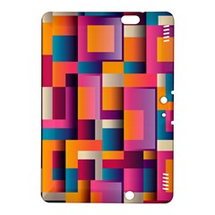 Abstract Background Geometry Blocks Kindle Fire HDX 8.9  Hardshell Case
