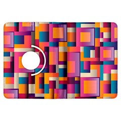 Abstract Background Geometry Blocks Kindle Fire HDX Flip 360 Case