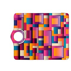 Abstract Background Geometry Blocks Kindle Fire Hdx 8 9  Flip 360 Case