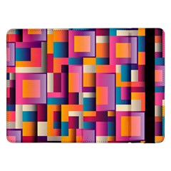 Abstract Background Geometry Blocks Samsung Galaxy Tab Pro 12.2  Flip Case