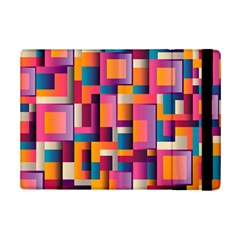 Abstract Background Geometry Blocks iPad Mini 2 Flip Cases