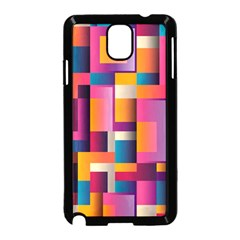 Abstract Background Geometry Blocks Samsung Galaxy Note 3 Neo Hardshell Case (Black)
