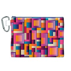 Abstract Background Geometry Blocks Canvas Cosmetic Bag (XL)