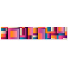 Abstract Background Geometry Blocks Flano Scarf (large)