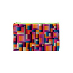 Abstract Background Geometry Blocks Cosmetic Bag (XS)