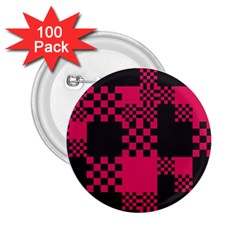 Cube Square Block Shape Creative 2 25  Buttons (100 Pack)