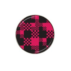 Cube Square Block Shape Creative Hat Clip Ball Marker (4 pack)