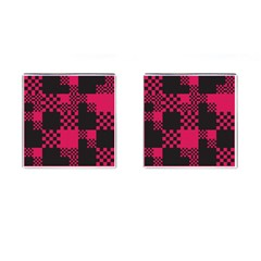 Cube Square Block Shape Creative Cufflinks (square)