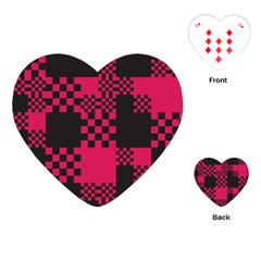 Cube Square Block Shape Creative Playing Cards (heart)