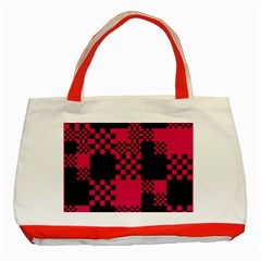Cube Square Block Shape Creative Classic Tote Bag (red)