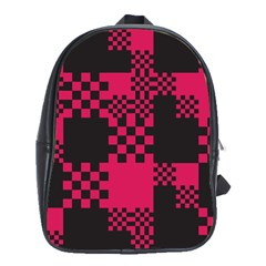 Cube Square Block Shape Creative School Bags(Large)