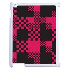Cube Square Block Shape Creative Apple iPad 2 Case (White)