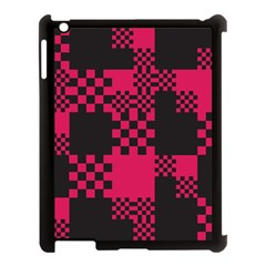 Cube Square Block Shape Creative Apple iPad 3/4 Case (Black)