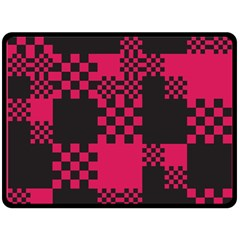 Cube Square Block Shape Creative Double Sided Fleece Blanket (large)