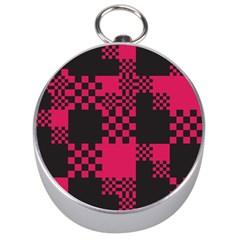 Cube Square Block Shape Creative Silver Compasses