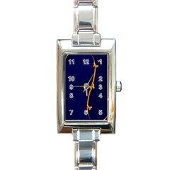 Greeting Card Invitation Blue Rectangle Italian Charm Watch