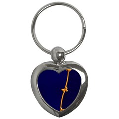 Greeting Card Invitation Blue Key Chains (heart)