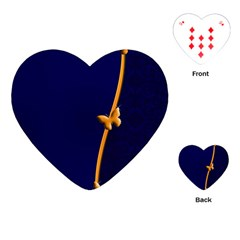 Greeting Card Invitation Blue Playing Cards (heart)