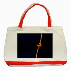 Greeting Card Invitation Blue Classic Tote Bag (Red)