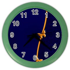 Greeting Card Invitation Blue Color Wall Clocks