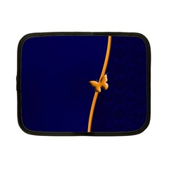 Greeting Card Invitation Blue Netbook Case (Small)