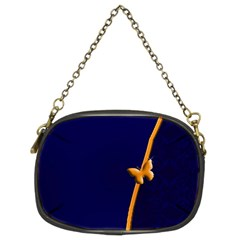 Greeting Card Invitation Blue Chain Purses (two Sides)