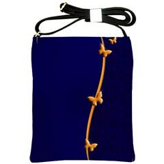 Greeting Card Invitation Blue Shoulder Sling Bags