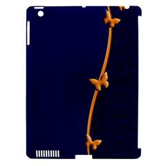Greeting Card Invitation Blue Apple iPad 3/4 Hardshell Case (Compatible with Smart Cover)