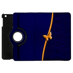 Greeting Card Invitation Blue Apple iPad Mini Flip 360 Case