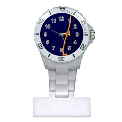 Greeting Card Invitation Blue Plastic Nurses Watch
