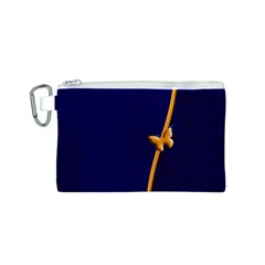 Greeting Card Invitation Blue Canvas Cosmetic Bag (s)