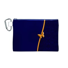 Greeting Card Invitation Blue Canvas Cosmetic Bag (M)