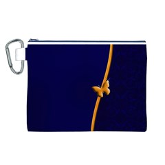 Greeting Card Invitation Blue Canvas Cosmetic Bag (l)