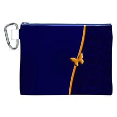 Greeting Card Invitation Blue Canvas Cosmetic Bag (XXL)