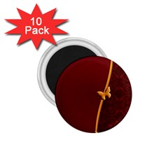 Greeting Card Invitation Red 1.75  Magnets (10 pack)