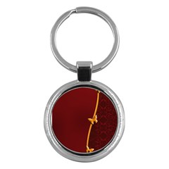 Greeting Card Invitation Red Key Chains (Round)