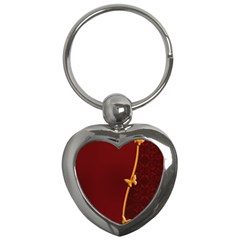 Greeting Card Invitation Red Key Chains (Heart)