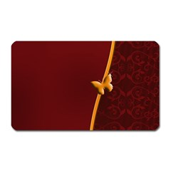 Greeting Card Invitation Red Magnet (rectangular)