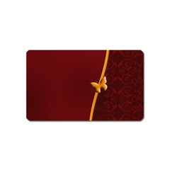 Greeting Card Invitation Red Magnet (Name Card)