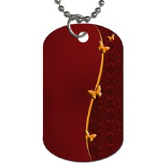 Greeting Card Invitation Red Dog Tag (One Side)
