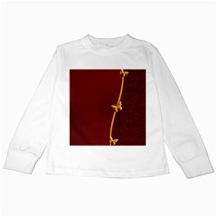 Greeting Card Invitation Red Kids Long Sleeve T-Shirts