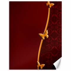Greeting Card Invitation Red Canvas 12  X 16