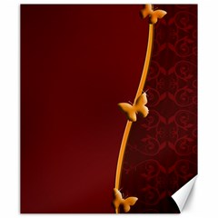 Greeting Card Invitation Red Canvas 20  x 24