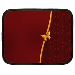 Greeting Card Invitation Red Netbook Case (large)