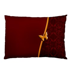 Greeting Card Invitation Red Pillow Case