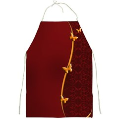 Greeting Card Invitation Red Full Print Aprons