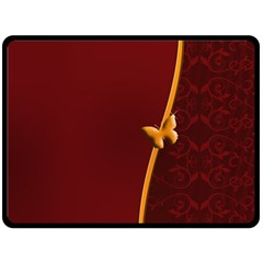Greeting Card Invitation Red Fleece Blanket (Large)
